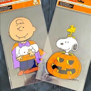 👻IOTD👻Reuseable Peanuts Halloween Window Clings